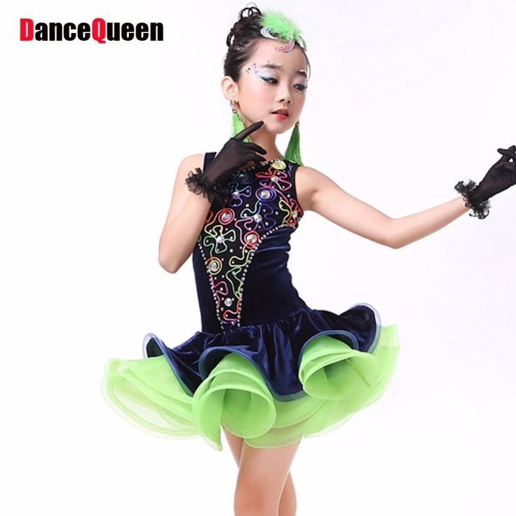 >> Click to Buy << 2017 Latin Dance Skirt Girls 3pcs(Dress&Headwear&Gloves) Children Dance Costumes Kids Dance Costumes For Competition Samba Dress #Affiliate