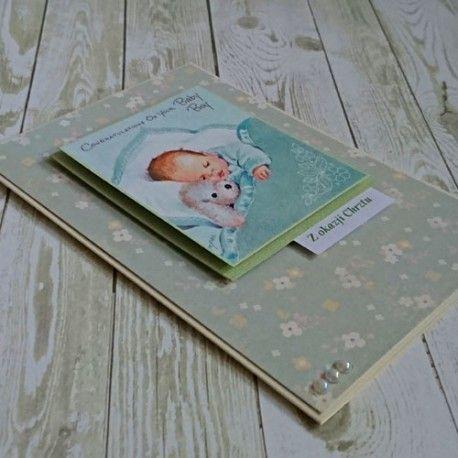 Karta - pamiątka Chrztu dla chłopca