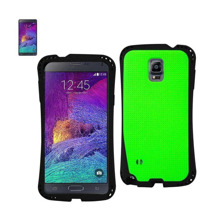 Reiko Dual Color TPU Case For Samsung Galaxy Note 4 N910V/ N910P/ N910T/ N910R4 Green