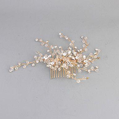 Γυναικείο Ανοξείδωτο Ατσάλι Headpiece-Γάμος Χτενιές Μαλλιών 1 Τεμάχιο