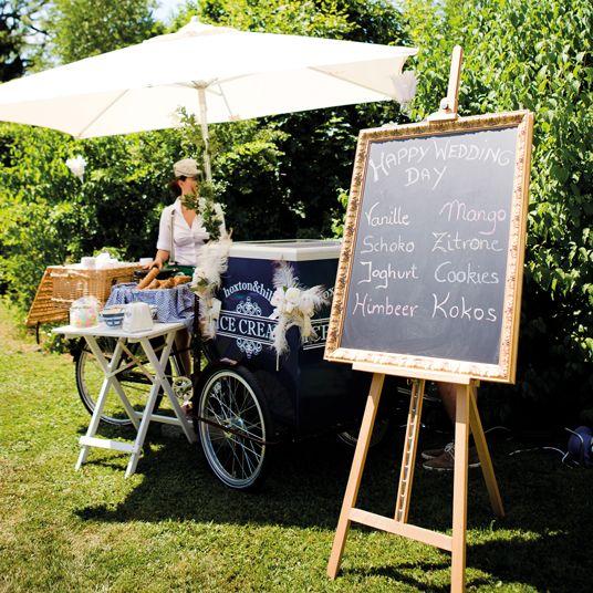 Eis zum Hochzeitsempfang