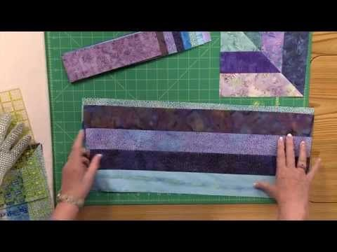 How to Make the Cool Water Quilt - YouTube   For my Kaffe Fassett jelly roll?