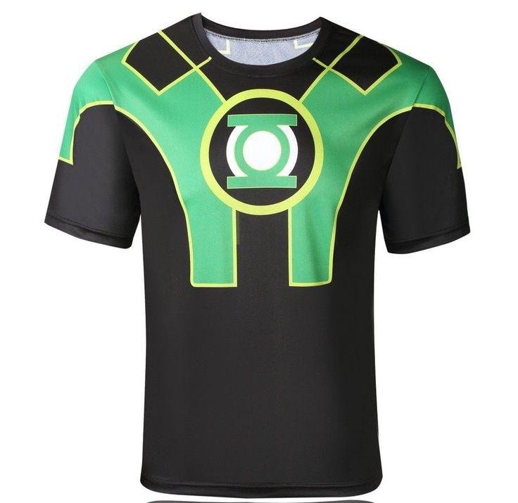 3D Captain Green Lantern Digital Printing Sport T-shirt