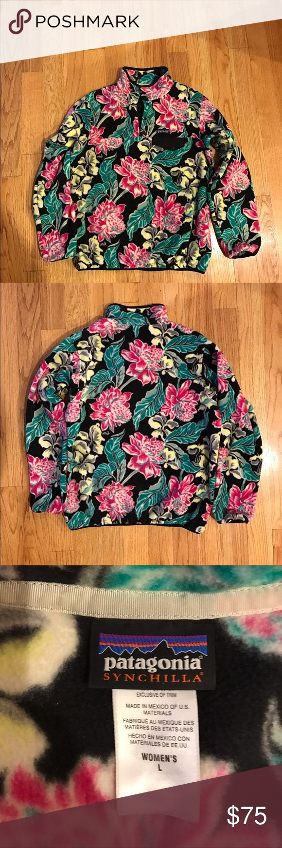 Patagonia Synchilla pull over Patagonia Synchilla jacket. Warm and fuzzy! Beautiful pattern. Too big for me. Great condition. No rips stains or pilling. Offers welcome. Patagonia Sweaters