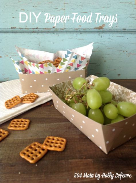 Paper Fodo Trays are easy to make and easy to use and so cute!