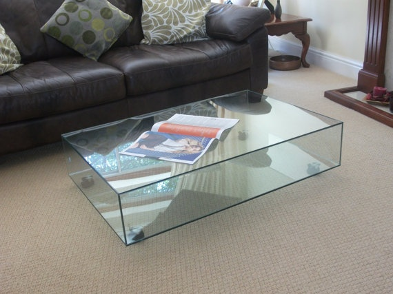 jil & jon Clear Glass Coffee Table £299.00 (free delivery in the UK) #Etsy