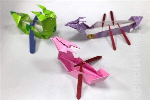 Dragon boat origami.  Wow There are so Many Ways to Celebrate the Dragon Boat Festival! http://www.visiontimes.com/2015/06/20/wow-there-are-so-many-ways-to-celebrate-the-dragon-boat-festival.html