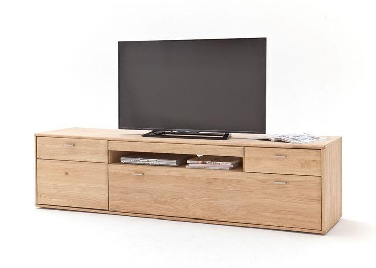 Lowboard Eiche Bianco Canonja Fernsehschrank Holz Teilmassiv 22572. Buy now at https://www.moebel-wohnbar.de/lowboard-eiche-bianco-canonja-fernsehschrank-holz-teilmassiv-22572