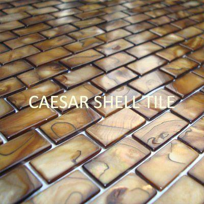 Aliexpress.com: CAESAR DECO MATERIAL CO., LTD üzerinde Güvenilir karo cam tedarikçilerden 10mm x 20mm sedef kabuk mozaik, antika altın rengi kabuk kiremit # ms096 Satın Alın