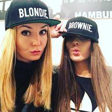 BLONDIE BROWNIE Bordado Venta Caliente Del Snapback Sombreros de Alta calidad de algodón Mujeres Regalos Para Sus Gorras de Béisbol de Hip-Hop Ajustable(China (Mainland))