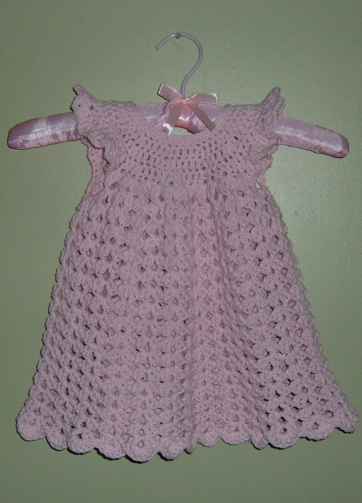 Crochet baby dress. Free pattern on Ravelry by Maxine ...