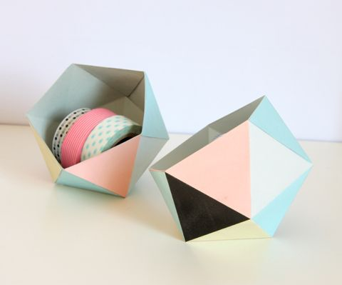 zü: DIY - GEOBALL || Free Printable - instructions in French || a mega cute catchall for little bits and bobs!