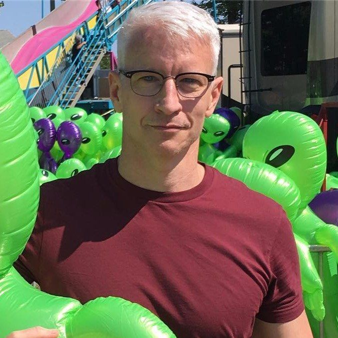 Anderson Cooper at a Goshen, Connecticut fair