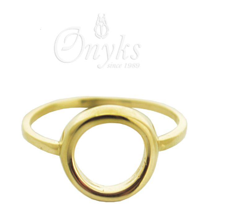 Gold Circle Ring by MyOnyks on Etsy