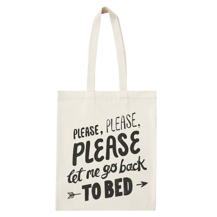 'Back To Bed' Tote Bag