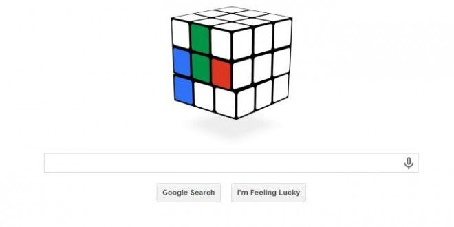Google Doodle today: Rubik's Cube 40th anniversary