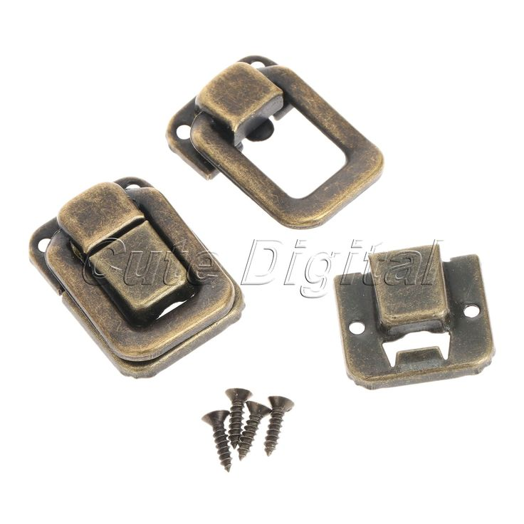 6pcs Antique Bronze Decorative Jewelry Gift Wine Box Wood Case Suitcase Hasp Latch Toggle Latch Drawers Buckle  Wholesales #hats, #watches, #belts, #fashion, #style