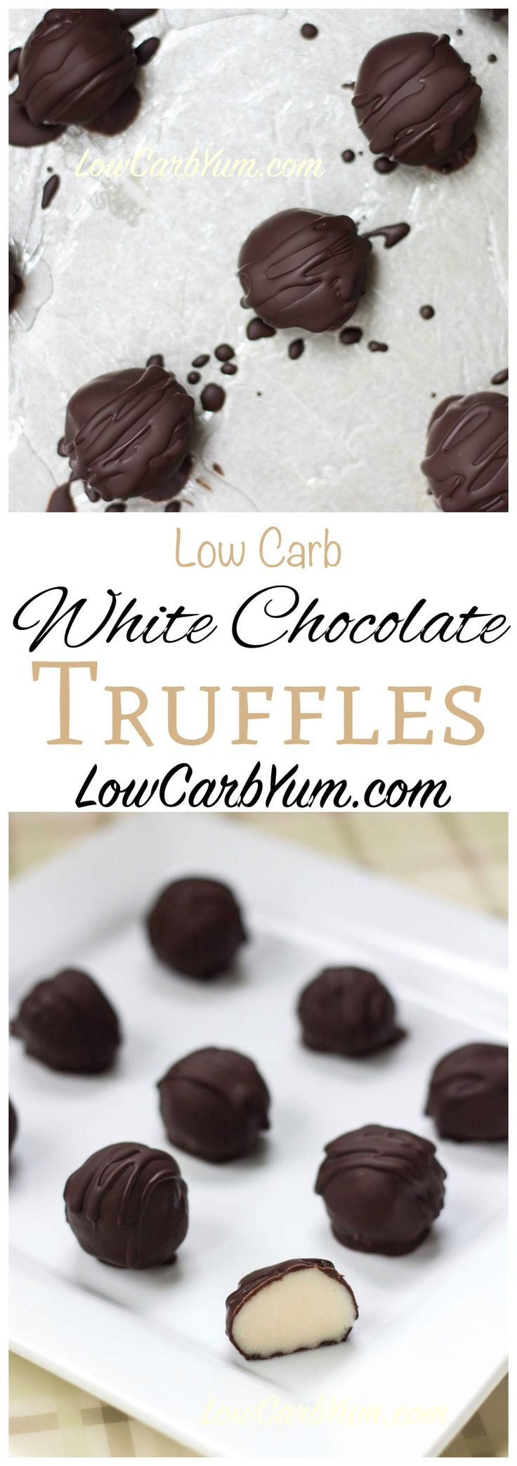 Make every day special with these low carb macarpone white chocolate truffles candy. Each candy has a creamy soft filling covered in yummy dark chocolate. Keto LCHF Banting Recipe