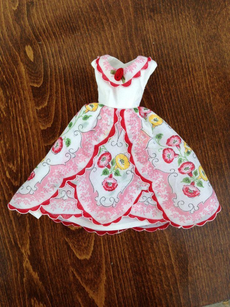Barbie Easter dress from vintage floral hankie plus hat and Easter basket. $32.00, via Etsy.