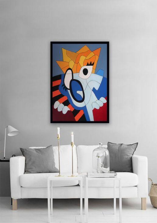 Buy Scream 11, Acrylic painting by Ninah Mars on Artfinder. #art #buyart #homedecor #interiordesign #abstract #painting #abstractpainting #artfinder #arte #contemporaryart #popart