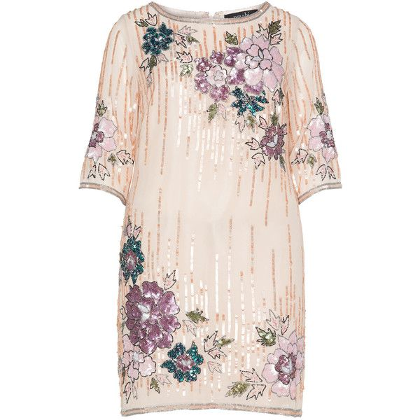 navabi Apricot / Purple Plus Size Floral sequin embroidered dress ($390) ❤ liked on Polyvore featuring dresses, plus size, apricot, knee length cocktail dresses, plus size dresses, mother of the bride evening dresses, purple cocktail dress and women plus size dresses