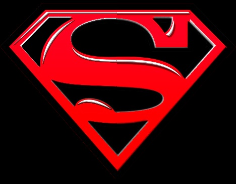 Superman symbol in black