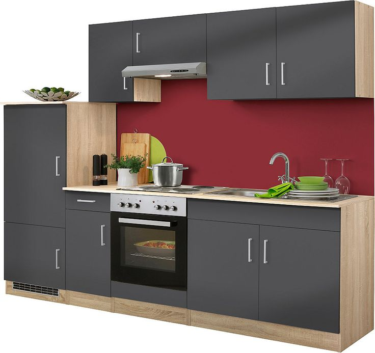 Küchenzeile mit E-Geräten »Prag«, Breite 270 cm - Set 1 Jetzt - küchenblock 270 cm