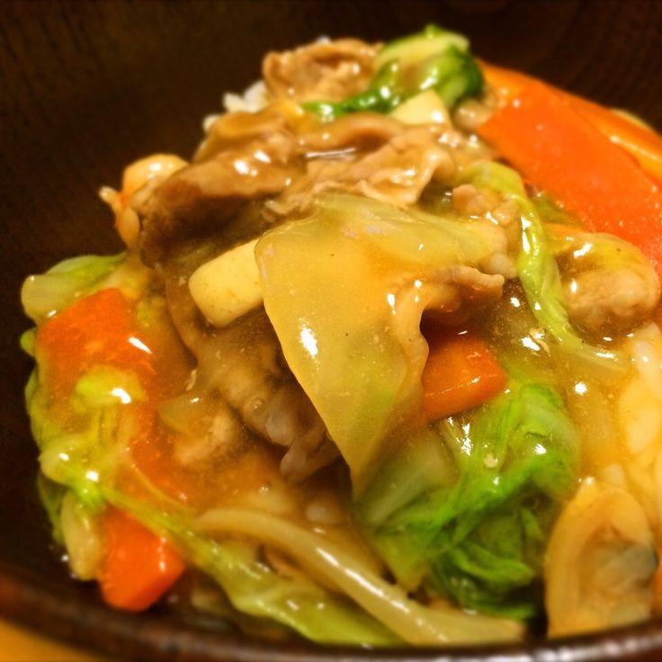 お箸がとまらない中華丼☆オイスターソース味