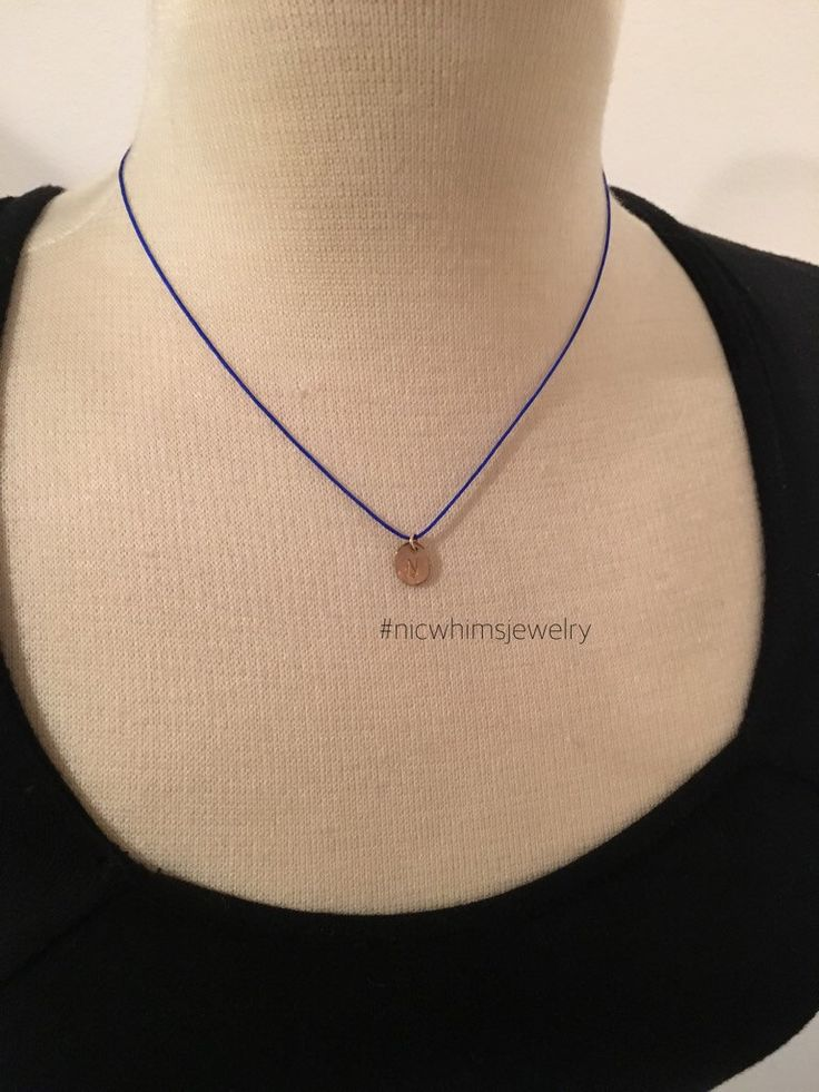 Old English Charm: Tiny Charm Necklace, Initial Necklace, Monogram, Dainty