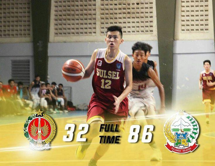 Tim Putra Sulsel Tantang Jateng di Semifinal Kejurnas Bola Basket KU-18