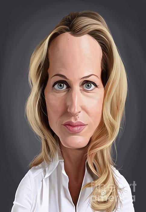 Gillian Anderson art | decor | wall art | inspiration | caricature | home decor | idea | humor | gifts