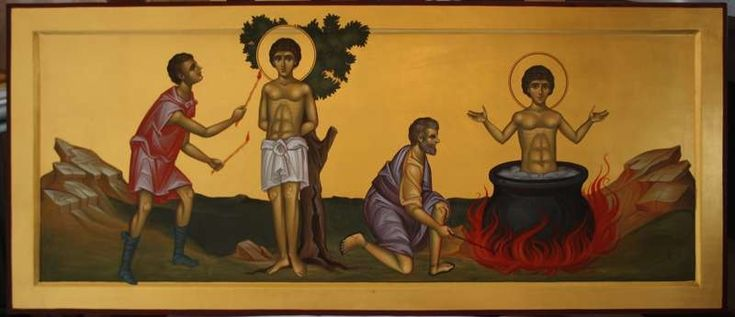 The tortures of St. Panteleimon.