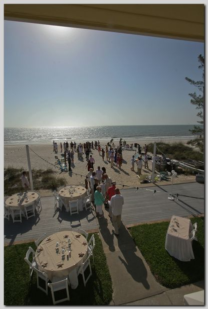 Beach Wedding Reception For 100 Guests At Cay Pointe Villa On Indian Rocks Florida