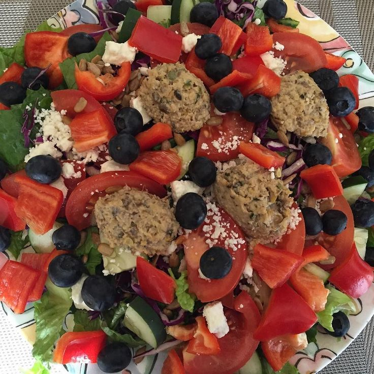 Romaine  cucumber red pepper blueberries purple cabbage feta and vegetarian liver #allthingsgf #behealthy #bitchbetterhavenogluten #lunch #salad #eatclean #eathealthy #eatingfortheinsta #cleaneats #cleaneating #healthy #healthyeats #healthyeating #healthychoices #instafood #instalunch #gf #glutenfree #glutenfreediet #glutenfreeeats #glutenfreefood #glutenfreelife #glutenfreelunch #glutenfreeeating #glutenfreeliving #glutenfreelifestyle #glutenfreefoodie #glutenfreefollowme…