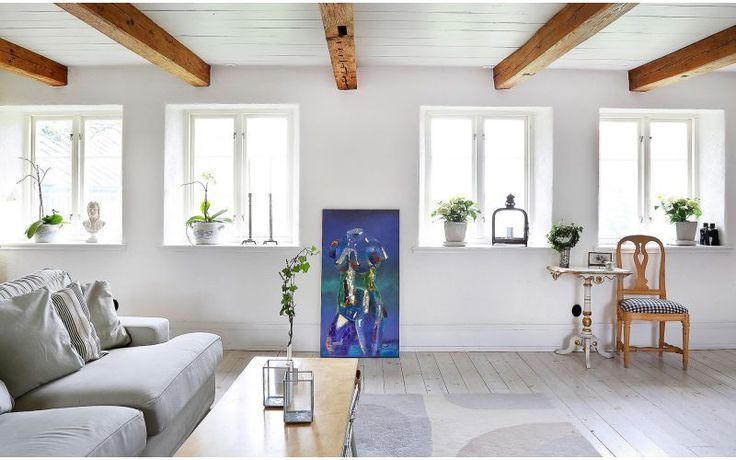 Härligt hemma | Titta in i familjens vackra vita skånelänga