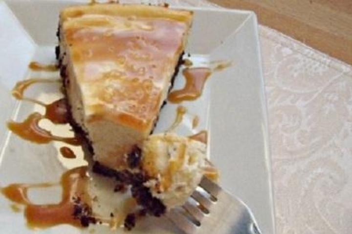 White Chocolate Cheesecake with White Chocolate Brandy Sauce Recipe