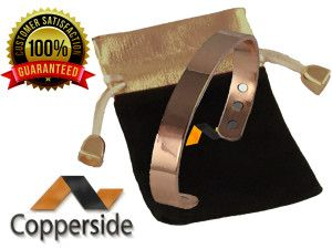 Buy best luxury Copper Magnetic Bracelet for men and women at just $23.97 from Copperside Athletics.