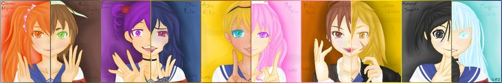 Yandere Simulator - 10 Rivals by GirlMoonDevil.deviantart.com on @DeviantArt