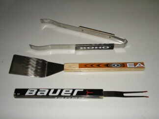 Break your favorite hockey stick? Turn it into a grilling utensil that you will never forget!