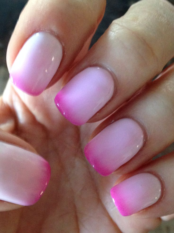 Mood changing nail polish - pink when cold , white when hot