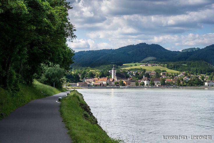 Grein văzut de pe pista de bicicletă Donauradweg
