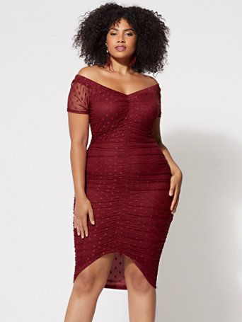 fa13bae611e Shop FTF Vanessa Mesh Bodycon Dress. Find your perfect size online at the  best price at Fashion To Figure.