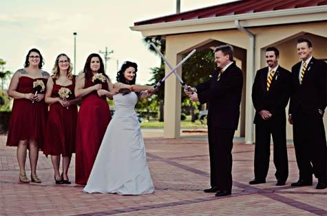 Star Wars Theme Wedding Photo