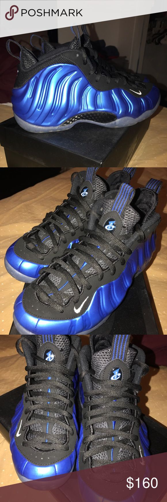 Nike Foamposite Shoes are mint Condition, Penny Hardaway inspired Foams , size 8 , royal blue .. serious inquires only Nike Shoes Sneakers