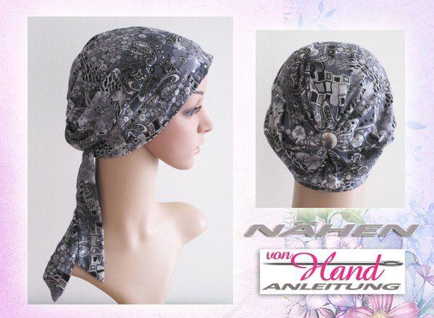 Nähanleitung Chemo Mütze Kopfbedeckung Größen S M L Chemo Mützen Kopfbedeckung Kopfbedeckung Chemo