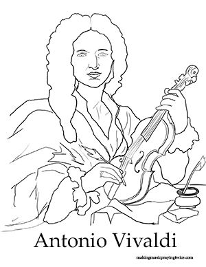 composer coloring sheets - Google Search