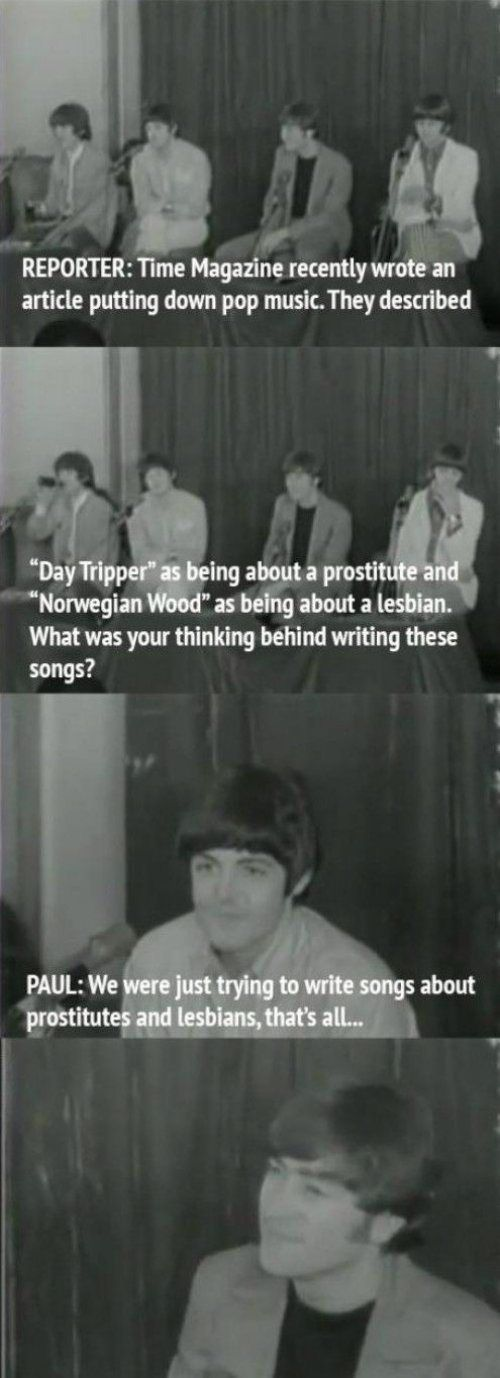 The Beatles had a way with words when dealing with reports.