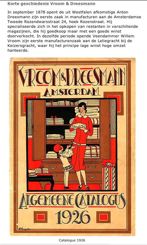Vroom & Dreesman catalogus, 1926
