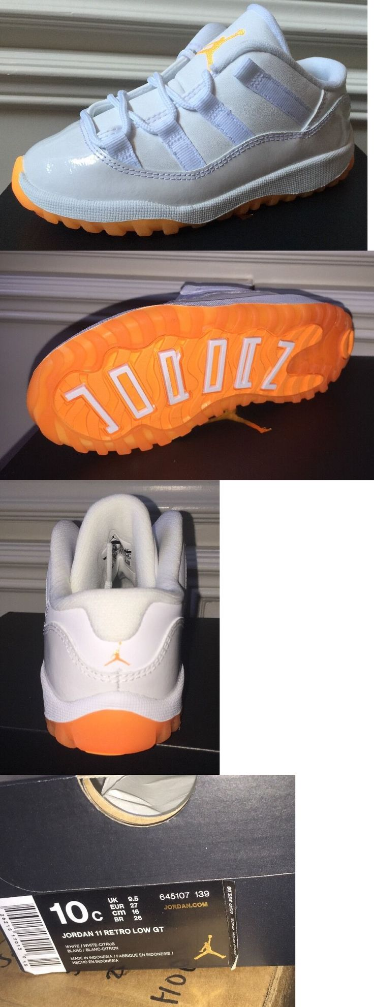 Infant Shoes: Nike Air Jordan 11 Retro Xi Td White Citrus Orange Baby Girls Infant Sz 10C -> BUY IT NOW ONLY: $69.99 on eBay!