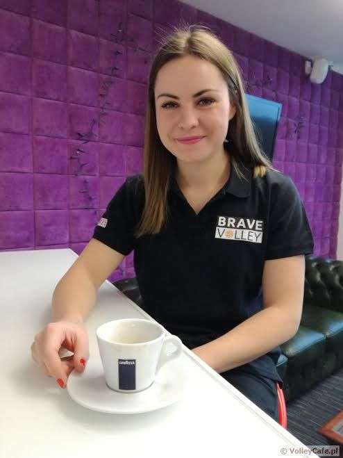 Kaja Stefaniak during #coffee #interview #cafe #volleyball